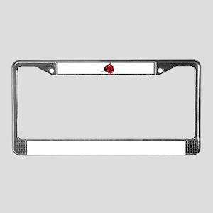 Roses Paper Towel License Plate Frame