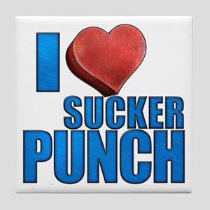 I Heart Sucker Punch Tile Coaster