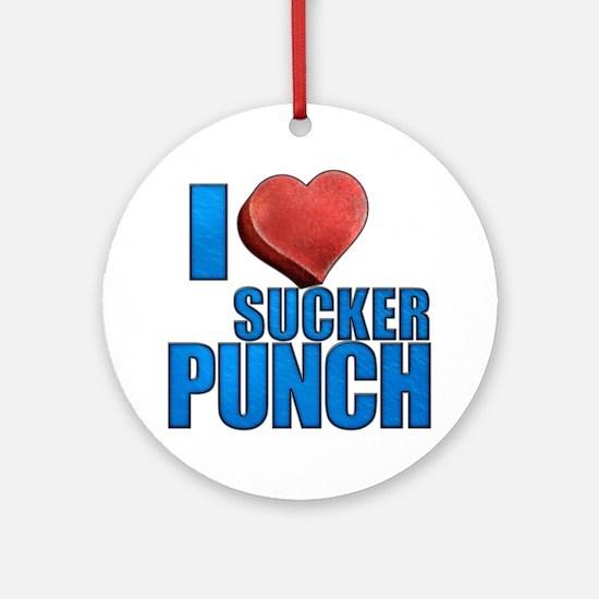 I Heart Sucker Punch Round Ornament