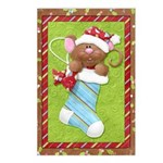 Mouse in Stocking Postcards (Package of 8)