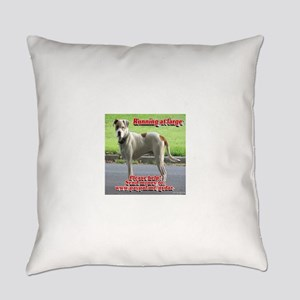 Running at large Everyday Pillow