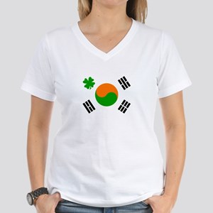Irish/Korean Korean/Irish Women's V-Neck T-Shirt
