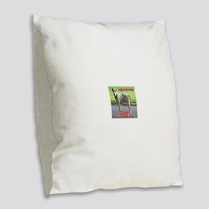 Looking for a forever home Burlap Throw Pillow