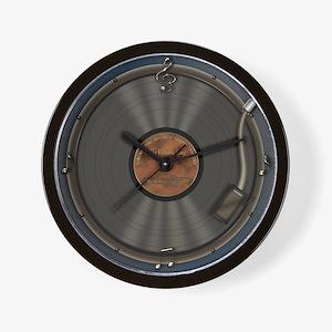 Karaoke King LP Record Wall Clock