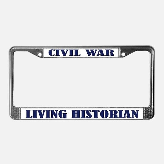 Civil War Living Historian License Plate Frame