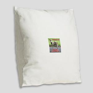 A victim of poverty Burlap Throw Pillow