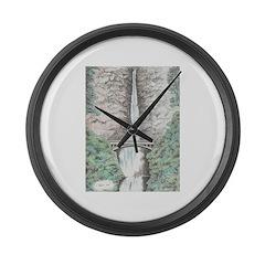 Multnomah Falls Large Wall Clock