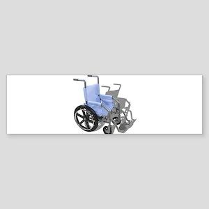 Wheelchair with Blue Seat Sticker (Bumper)
