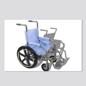 Wheelchair with Blue Seat Postcards (Package of 8)