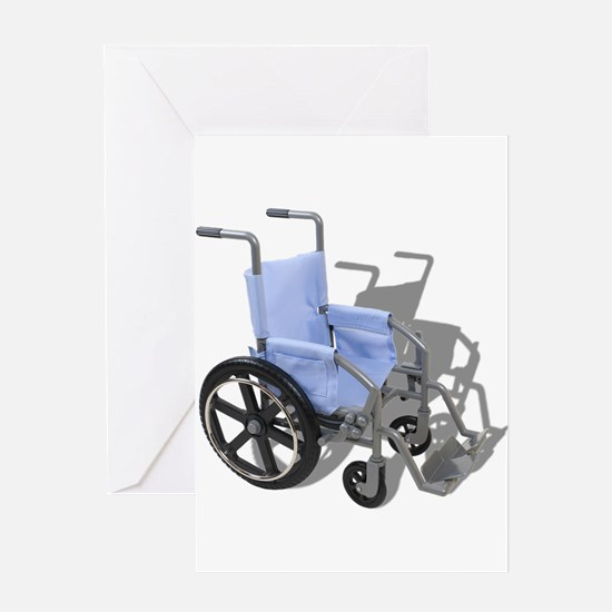 Wheelchair with Blue Seat Greeting Card