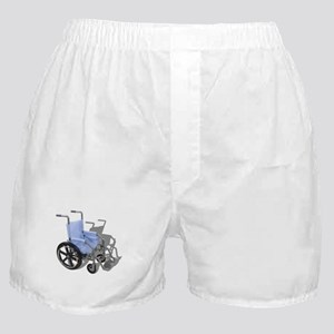 Wheelchair with Blue Seat Boxer Shorts