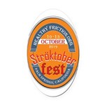 StroktoberFest Oval Car Magnet