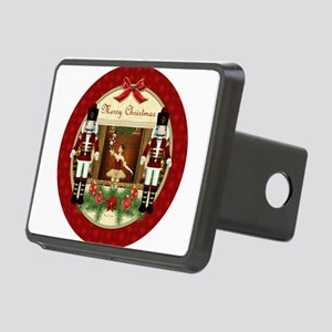 Red Nutcracker Christmas B Rectangular Hitch Cover
