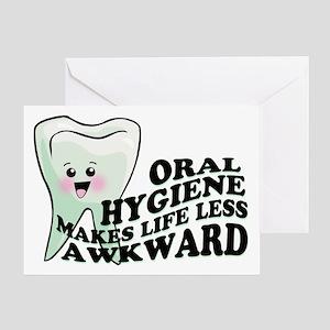 Oral Hygiene Greeting Card