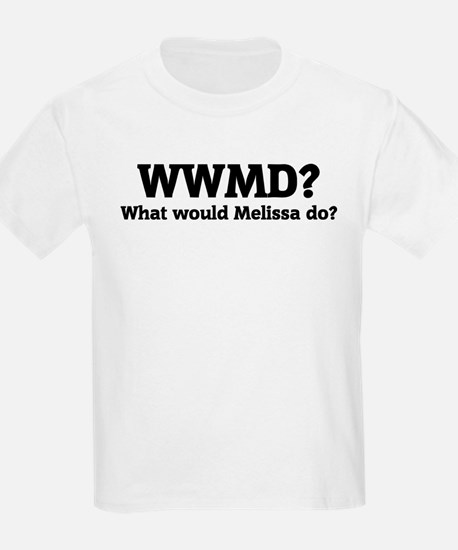 What would Melissa do? Kids T-Shirt