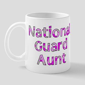 National Guard Aunt Pink Camo Mug
