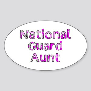 National Guard Aunt Pink Camo Oval Sticker
