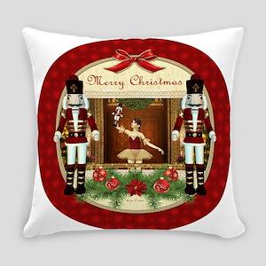 Red Nutcracker Christmas Ballerina Everyday Pillow