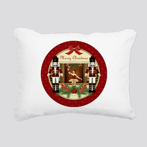 Red Nutcracker Christmas Rectangular Canvas Pillow