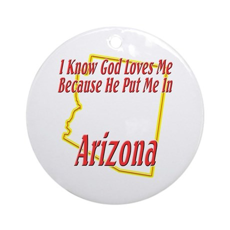 I Know God Loves Me Ornament (Round)