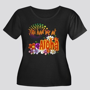 You Had Me At Aloha Women's Plus Size Scoop Neck D