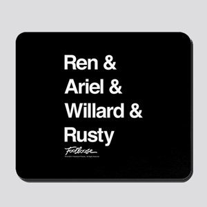 Footloose Character Names Mousepad