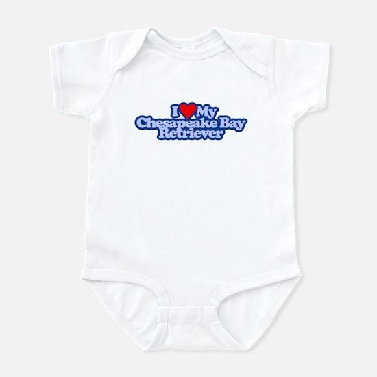 I Love My Chesapeake Bay Retr Infant Bodysuit