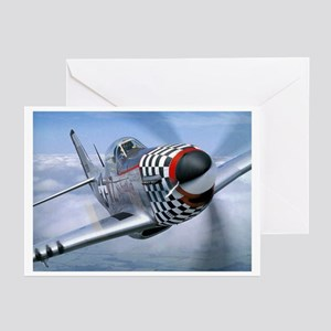 P-51 Mustang Coming at You Greeting Cards (Package
