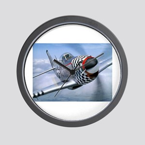P-51 Mustang Coming at You Wall Clock