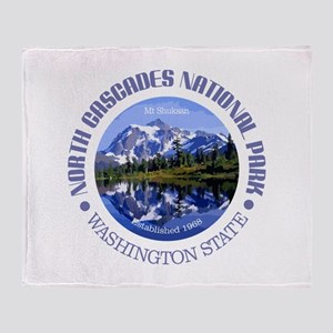 North Cascades NP Throw Blanket