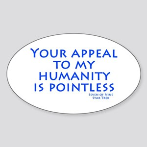 Star Trek Humanity Sticker (Oval)