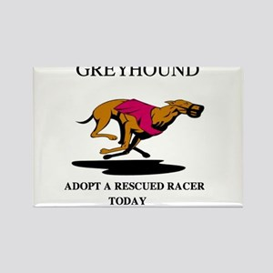 ADOPT A RESCUED RACER Rectangle Magnet