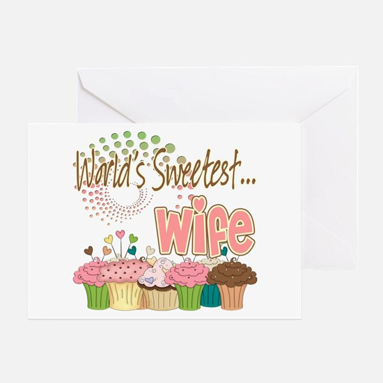 World's Sweetest Wife Greeting Card