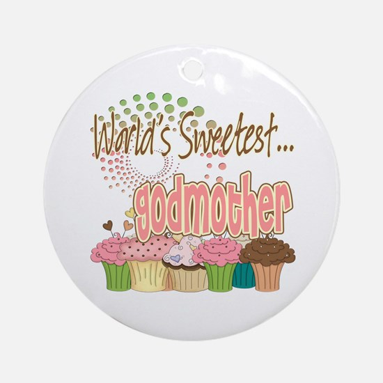 World's Sweetest Godmother Ornament (Round)