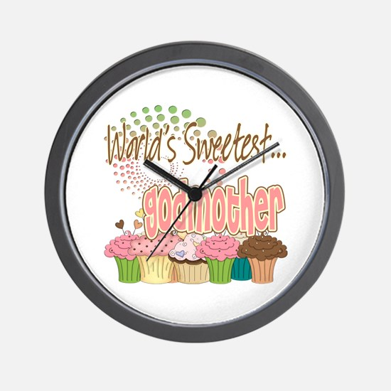World's Sweetest Godmother Wall Clock