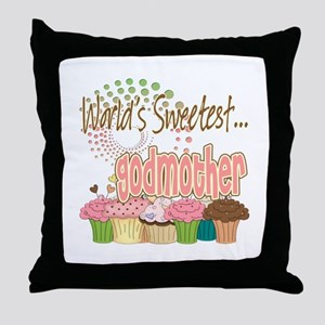 World's Sweetest Godmother Throw Pillow