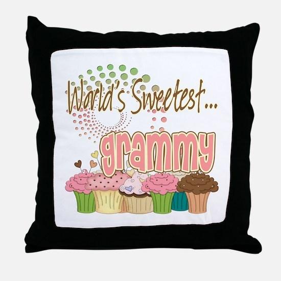 World's Sweetest Grammy Throw Pillow