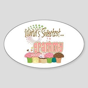 World's Sweetest Grammy Sticker (Oval)