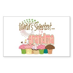 World's Sweetest Grandmother Decal