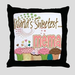 World's Sweetest Mema Throw Pillow