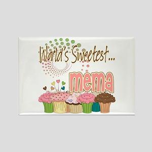 World's Sweetest Mema Rectangle Magnet