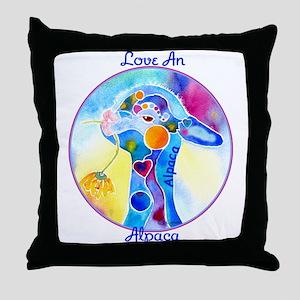 Love an Alpaca T Shirt Throw Pillow