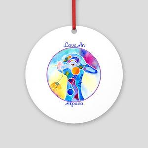 Love an Alpaca T Shirt Ornament (Round)