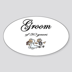 Groom of 30 Years Sticker (Oval)