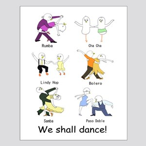 Ballroom Dancers Small Poster
