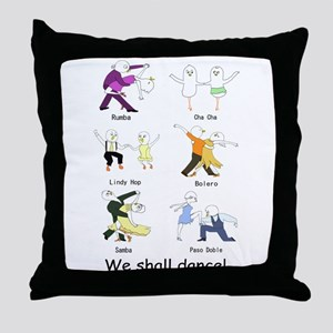 Ballroom Dancers Throw Pillow