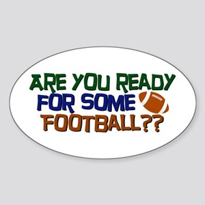 Football Season Sticker (Oval)