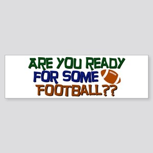 Football Season Sticker (Bumper)