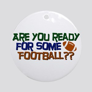 Football Season Ornament (Round)