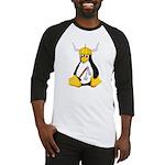 Tux the Viking Penguin Baseball Jersey